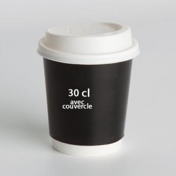 Gobelet Carton 30cl avec couvercle