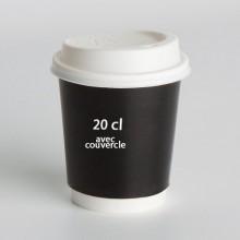 Gobelet Carton 20cl avec couvercle