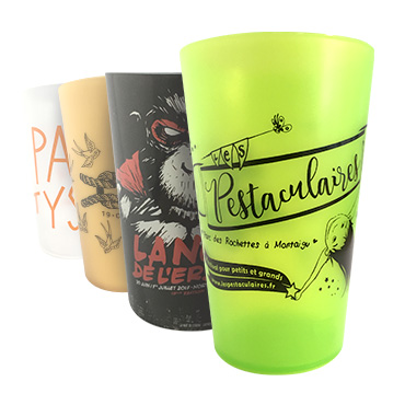Customizable reusable cups